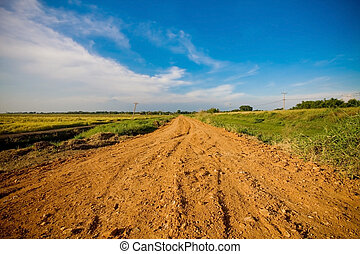 Off-road track in country