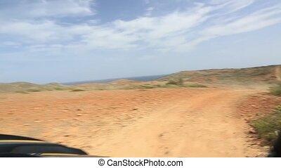 Off-road UTV Aruba tour. Amazing stone desert landscape and...