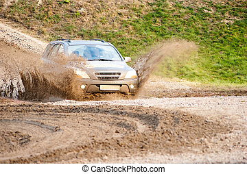 Off-Road Vehicle - Off - road vehicle traveling across the...