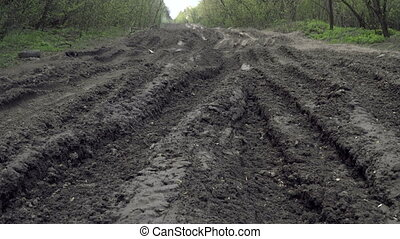 Off-road. Very bad road