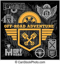 off-roading, elements., club, automobile, fuoristrada,...