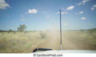Off roading experience - Dusty off roading using a truck....