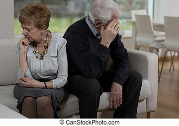 Offended elder couple