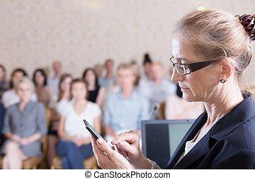 offentlig högtalare, är, texting
