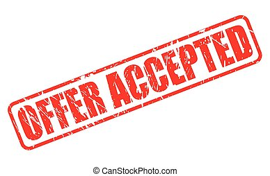 OFFER ACCEPTED red stamp text