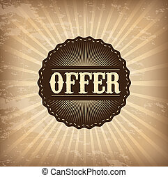 offer design - offer design over grunge background vector...