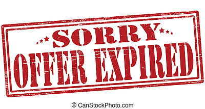 Offer expired - Stamp with text offer expired inside, vector...