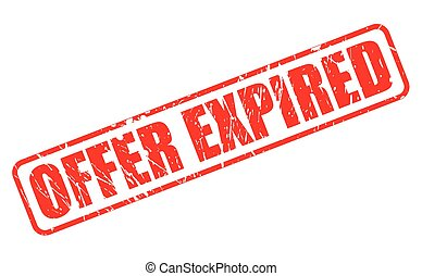 OFFER EXPIRED RED STAMP TEXT