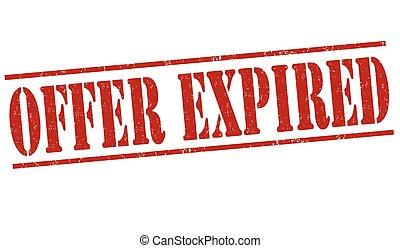 Offer expired stamp