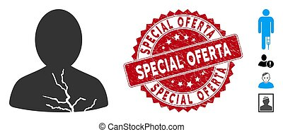 (offer, spécial, gratté, oferta, icône, cachet, patient,...
