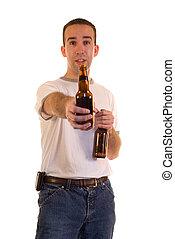 offergave, een, bier