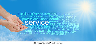 Offering You Service Word Cloud