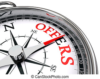 offers red word indicated by compass