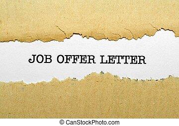 offerta lavoro, lettera