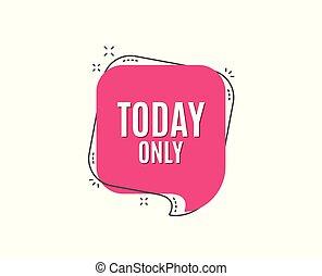 offerta, segno., vendita, simbolo., soltanto, speciale, oggi