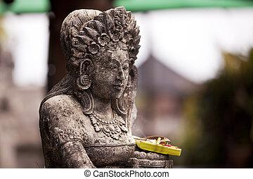 offerta, statua religiosa, bali