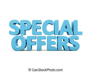 offerte, speciale, 3d