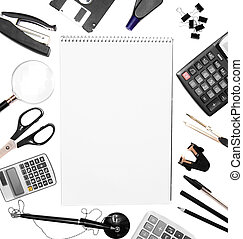 Office accessories and notebook . - Office accessories and...