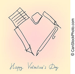 Office accessories valentine