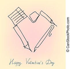 Office accessories valentine
