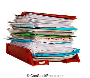 Office administration in-tray aka in tray isolated over...