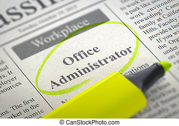 Office Administrator Join Our Team. 3D.