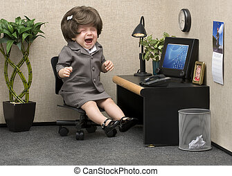 Office Babe - Baby dressed in professional office attire...