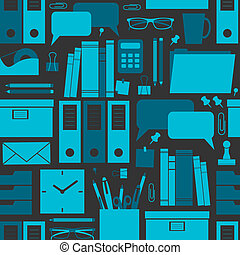 Office Background - Seamless pattern with office related...