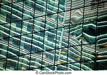 Office Block Reflection - Reflection of an office block...