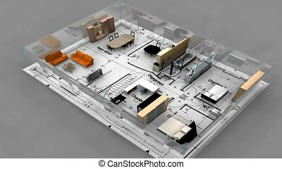 Blueprint layout draft stock videos search movies digital office blueprint layout malvernweather Choice Image