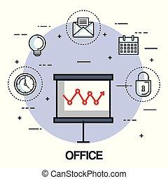 office board presentation graph finance business