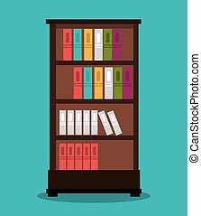 office bookcase isolated icon design