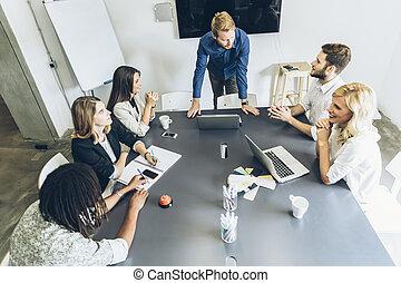 Office brainstorming