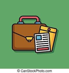 office briefcase vector icon