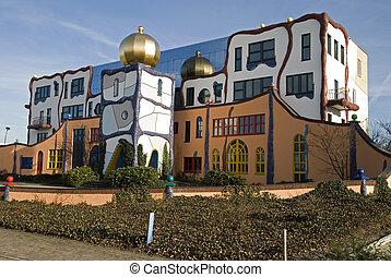 Building designed by Hundertwasser