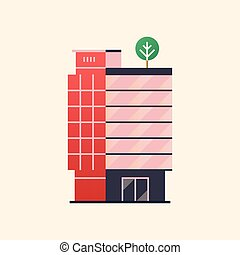 Office building. Business center. Vector illustration in...