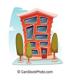 Office building cartoon concept. Vector illustration