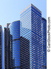 Office building - Fasade of office building in Hong Kong