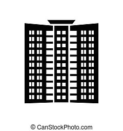 Office building icon, simple style