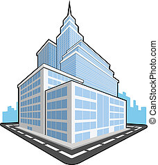 Office Building - A vector set of a office building. This...