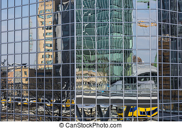 Office Building Mirror Utrecht - Reflection in the windows...
