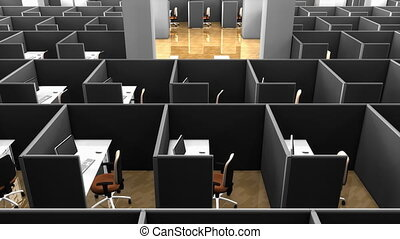 """""""Computer generated, Office building, office cubicle partitions."""""""