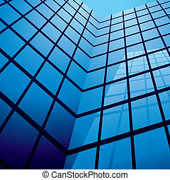 office building reflection - office building with glass ...