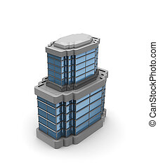 office building - 3d illustration of generic office building...