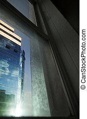Office Building Through Window