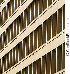 Office Building Window Row Diminishing Perspective