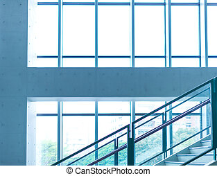 Office building with glass windows