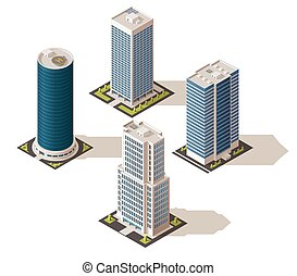 Office buildings and business centers, real estate