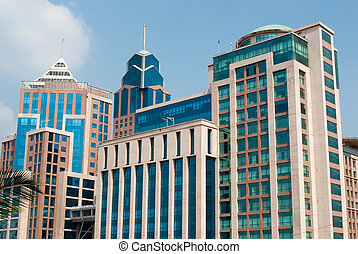 office buildings in downtown Bangalore, India