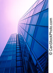 office buildings.  Modern glass building exterior